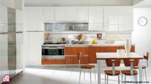Tủ bếp dạng chữ I:Tủ bếp Acrylic dạng chữ i TBI_17