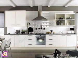 Tủ bếp dạng chữ I:Tủ bếp Laminate dạng chữ I TBI_21