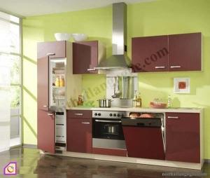 Nội thất phòng bếp:Tủ bếp Laminate dạng chữ I TBI_22