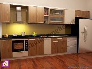 Tủ bếp Laminate dạng chữ I TBI_23