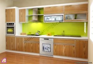 Tủ bếp dạng chữ I:Tủ bếp Laminate dạng chữ i TBI_10