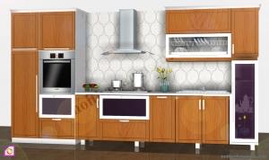 Tủ bếp Melamine dạng chữ I TBI_27