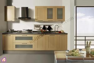 Tủ bếp Veneer dạng chữ I TBI_28