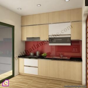 Tủ bếp Veneer dạng chữ I TBI_29
