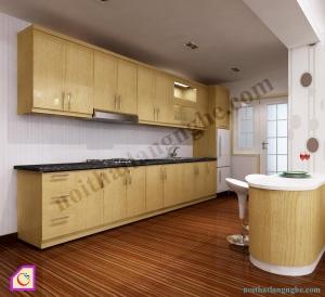 Tủ bếp Veneer dạng chữ I TBI_30
