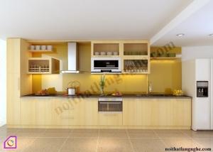 Tủ bếp Veneer dạng chữ I TBI_32