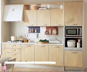 Tủ bếp Veneer dạng chữ I TBI_33