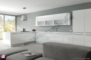 Tủ bếp dạng chữ L:Tủ bếp Acrylic dạng chữ L TBL_02