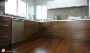 Tủ bếp dạng chữ L:Tủ bếp gỗ Óc Chó dạng chữ L TBL_13