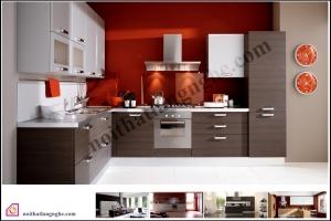 Tủ bếp dạng chữ L:Tủ bếp Laminate dạng chữ L TBL_32