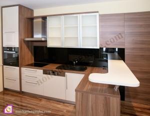 Tủ bếp dạng chữ L:Tủ bếp Laminate dạng chữ L TBL_31