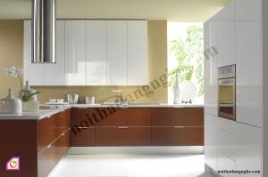 Tủ bếp dạng chữ L:Tủ bếp Laminate dạng chữ L TBL_33