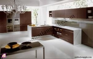 Tủ bếp dạng chữ L:Tủ bếp Laminate dạng chữ L TBL_37