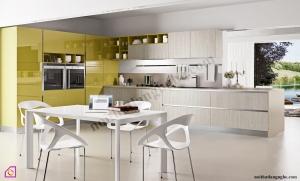 Tủ bếp Melamine kết hợp Acrylic TBL_41