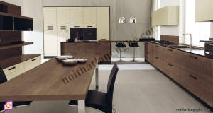 Tủ bếp Melamine dạng chữ L TBL_42