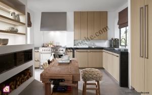 Tủ bếp Melamine dạng chữ L TBL_43