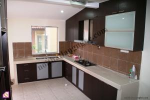 Tủ bếp Melamine dạng chữ L TBL_44