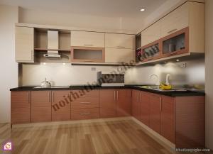 Tủ bếp Melamine dạng chữ L TBL_45