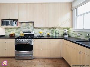 Tủ bếp Melamine dạng chữ L TBL_46