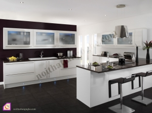 Tủ bếp Acrylic dạng chữ U TBU_02