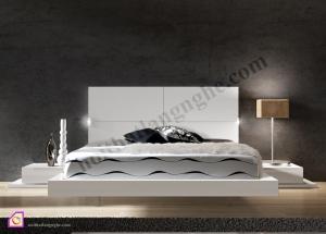 Giường ngủ:Giường ngủ trắng hiện đại GN_35