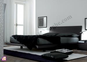 Giường ngủ Laminate đen GN_50