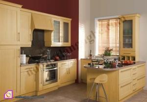 Tủ bếp dạng chữ U:Tủ bếp gỗ Sồi dạng chữ U TBU_10