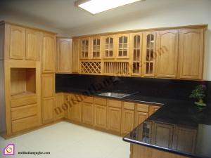 Nội thất phòng bếp:Tủ bếp gỗ Sồi dạng chữ U TBU_11