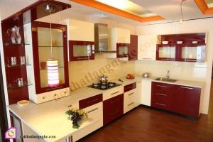 Tủ bếp dạng chữ U:Tủ bếp Laminate dạng chữ U TBU_24