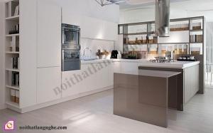 Tủ bếp dạng chữ U:Tủ bếp Laminate dạng chữ U TBU_25