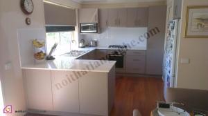 Tủ bếp dạng chữ U:Tủ bếp Laminate dạng chữ U TBU_26