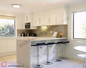 Tủ bếp dạng chữ U:Tủ bếp Laminate dạng chữ U TBU_27