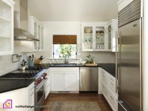 Tủ bếp dạng chữ U:Tủ bếp Laminate dạng chữ U TBU_28