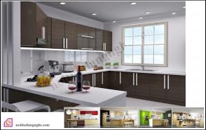 Tủ bếp Laminate dạng chữ U TBU_30