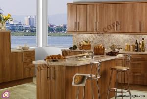 Nội thất phòng bếp:Tủ bếp gỗ Óc Chó có bàn đảo TBĐ_08