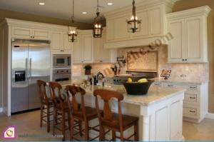 Nội thất phòng bếp:Tủ bếp gỗ Sồi có bàn đảo TBĐ_12