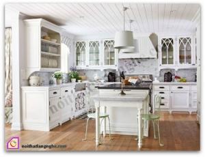 Nội thất phòng bếp:Tủ bếp gỗ Sồi có bàn đảo TBĐ_15