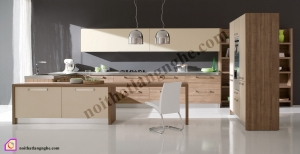 Tủ bếp Melamine kết hợp Laminate TBĐ_25