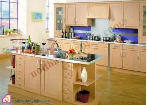 Tủ bếp Veneer có bàn đảo TBĐ_26
