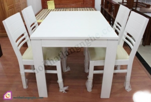 Bàn ghế ăn:Bộ bàn ghế ăn 4 ghế gỗ Sồi BGA_02
