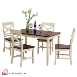 Bàn ghế ăn:Bộ bàn ăn 4 ghế gỗ Sồi BGA_05
