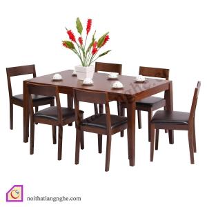 Bàn ghế ăn:Bộ bàn ghế ăn 6 ghế BGA_10