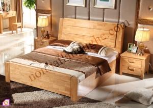Giường ngủ gỗ Thông ghép thanh GN_55