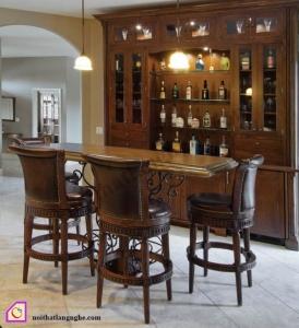 Nội thất phòng khách:Tủ rượu gỗ tự nhiên TR_14