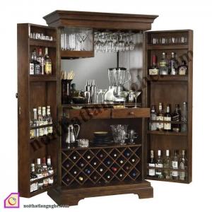 Tủ rượu:Tủ rượu gỗ TR_38