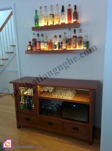 Nội thất phòng khách:Tủ rượu gỗ TR_40