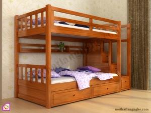 Nội thất trẻ em:Giường tầng gỗ GT_42