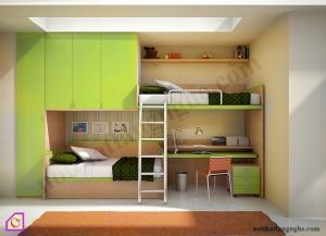 Nội thất trẻ em:Giường tầng GT_44