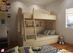 Nội thất trẻ em:Giường tầng cổ tích GT_51