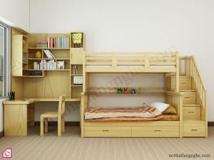 Nội thất trẻ em:Bộ phòng ngủ kết hợp giường tầng GT_52